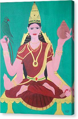 Ma Sharada Canvas Print by Pratyasha Nithin