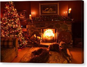 Ma Wee Room At Christmas Canvas Print by Joak Kerr