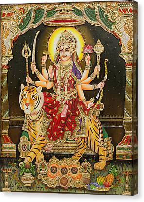 Maa Durga Canvas Print by Vijay krishna Maram