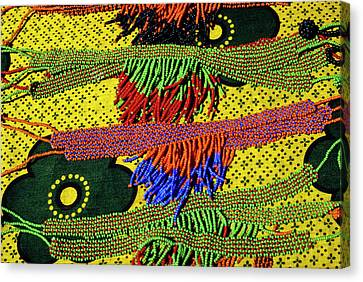 Maasai Beadwork Canvas Print by Michele Burgess