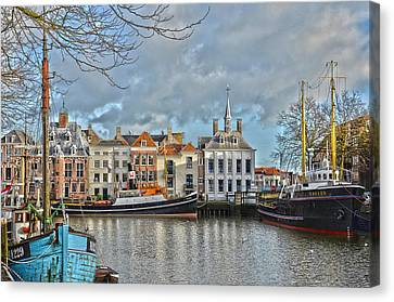 Maassluis Harbour Canvas Print