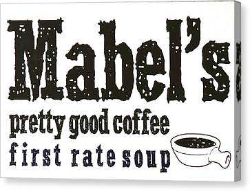 Mabels Cafe Canvas Print by Jeff Gater