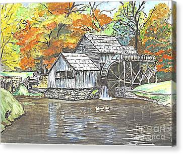 Mabry Grist Mill In Virginia Usa Canvas Print by Carol Wisniewski