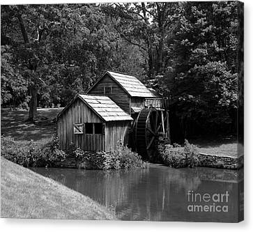 Grist Mill Canvas Print - Mabry Mill 3 by Mel Steinhauer