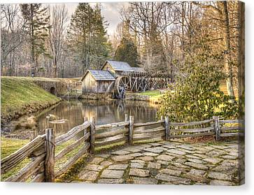 Canvas Print featuring the photograph Mabry Mill - Dan Virginia by Gregory Ballos