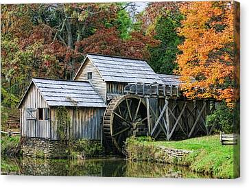 Mabry Mill II Canvas Print by Joan Bertucci