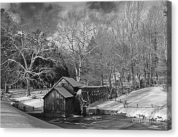 Mabry Mill In Snow Canvas Print