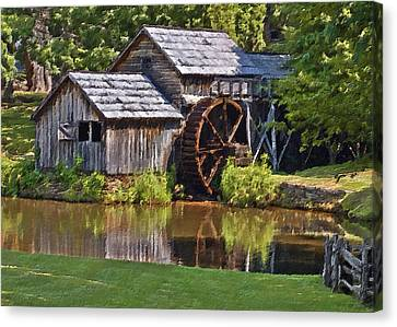 Old Mills Canvas Print - Mabry Mill In Summer by Patrick M Lynch