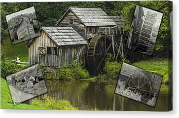 mabry Mill old and new Canvas Print