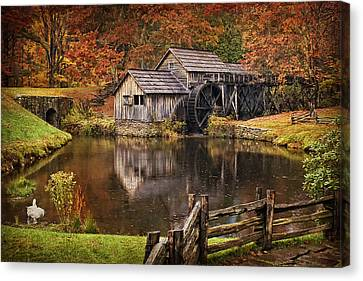 Old Mill Scenes Canvas Print - Mabry Mill by Priscilla Burgers