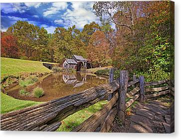 Mabry Mill Virginia Canvas Print by Marcia Colelli