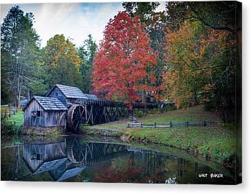 Mabry Mill  Canvas Print by Walt  Baker