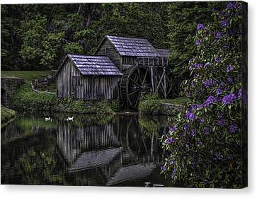 Mabry Mills In Spring 0002 Canvas Print