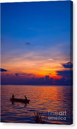 Mabul Island Sunset Borneo Malaysia Canvas Print by Fototrav Print