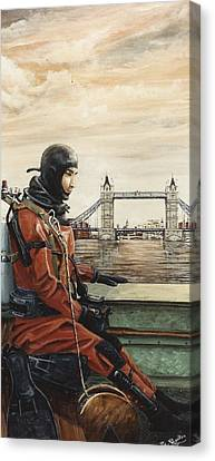 Mac The Standby Diver Canvas Print by Mackenzie Moulton