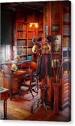 Macabre - In The Headhunters Study Canvas Print by Mike Savad