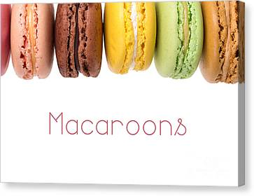 Selection Canvas Print - Macaroons Isolated by Jane Rix