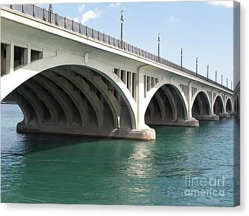 Macarthur Bridge To Belle Isle Canvas Print by Ann Horn