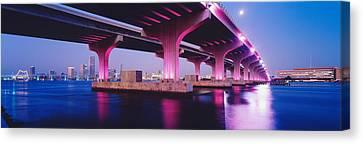Macarthur Causeway Biscayne Bay Miami Canvas Print