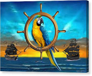 Macaw Pirate Parrot Canvas Print