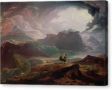 Shakespeare Canvas Print - Macbeth, C.1820 Oil On Canvas by John Martin