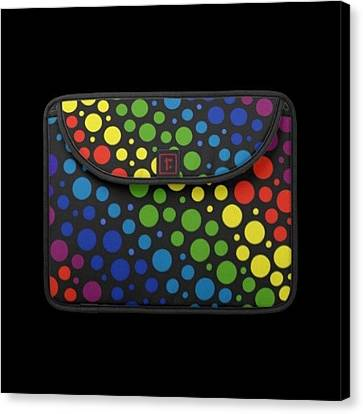 #macbook #cover #rainbow #awesome Canvas Print