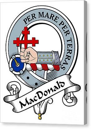 Macdonald Of Sleat Clan Badge Canvas Print
