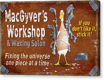 Macgyvers Workshop Canvas Print by JQ Licensing