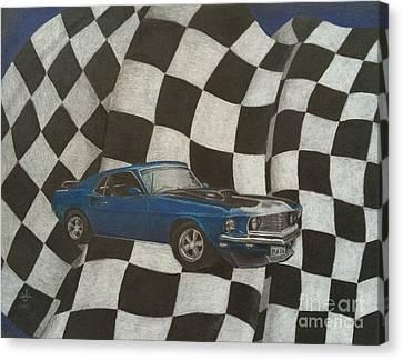 Racing Canvas Print - Mach Speed by Ambre Wallitsch