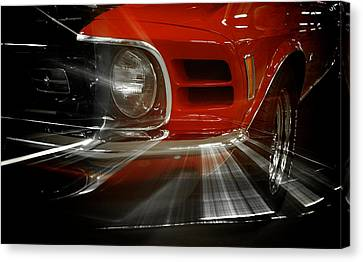 Custom Ford Canvas Print - Mach Speed by Mary Lee Dereske
