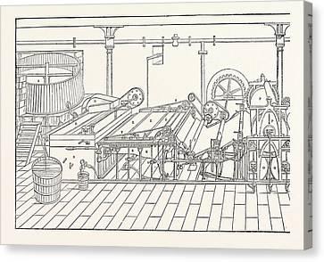 Machine A. Chest B. Vat 4 Feet By 5 C. Sifter D. Lifter E Canvas Print by English School