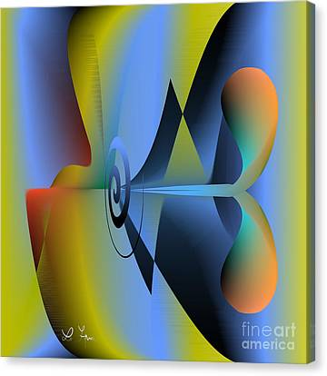 Machine For Happiness Canvas Print by Leo Symon