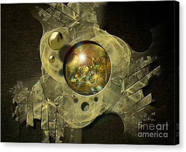 Canvas Print featuring the digital art Machinery by Alexa Szlavics