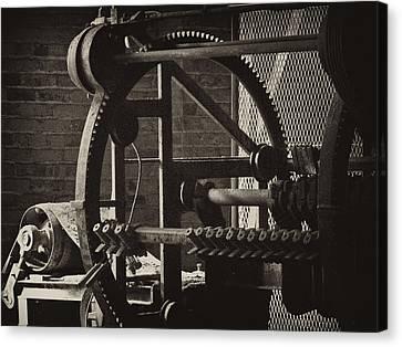 Machines Canvas Print by Ann Tracy