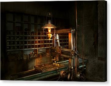 Tool Maker Canvas Print - Machinist - At The Millers  by Mike Savad