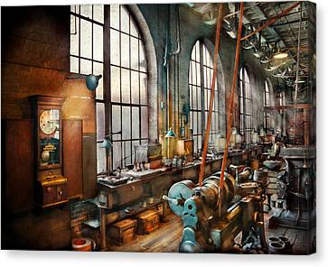 Yesterday Canvas Print - Machinist - Back In The Days Of Yesterday by Mike Savad