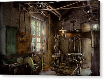 Tool Maker Canvas Print - Machinist - Industrial Revolution by Mike Savad