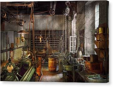 Tool Maker Canvas Print - Machinist - Lathes - Machinists Paradise by Mike Savad
