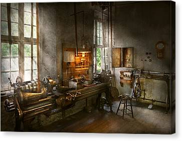 Tool Maker Canvas Print - Machinist - Lathes by Mike Savad