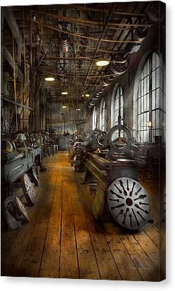 Tool Maker Canvas Print - Machinist - Lathes - The Original Lather Disc  by Mike Savad
