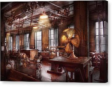 Machinist - The Fan Club Canvas Print by Mike Savad