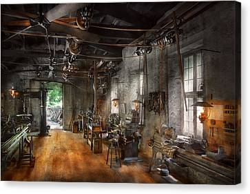 Tool Maker Canvas Print - Machinist - The Millwright  by Mike Savad