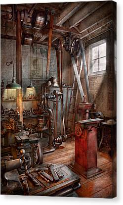 Machinist - The Modern Workshop  Canvas Print by Mike Savad