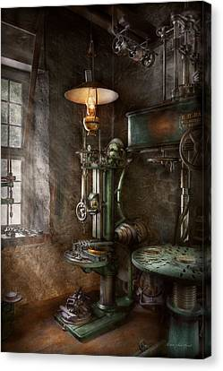 Tool Maker Canvas Print - Machinist - Where Inventions Are Born by Mike Savad