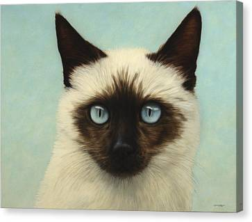 Chat Canvas Print - Machka by James W Johnson