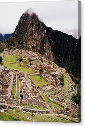 Machu Picchu Canvas Print by Ramona Johnston