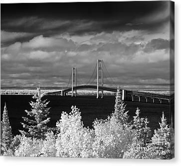 Macinac Bridge - Infrared Canvas Print