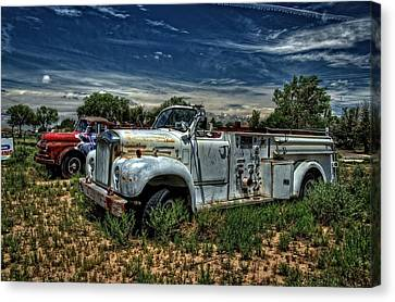 Canvas Print featuring the photograph Mack Fire Truck by Ken Smith