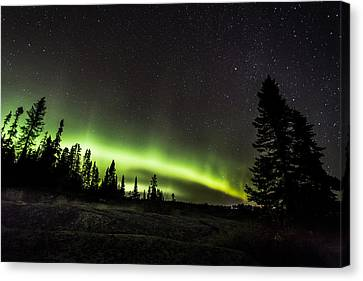 Mackenzie Point Aurora 3 Canvas Print by Jakub Sisak