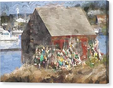 Mackerel Cove Maine Painterly Effect Canvas Print by Carol Leigh